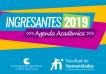 Cubierta para Ingresantes 2019: Agenda académica